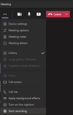 Start Recording Screenshot