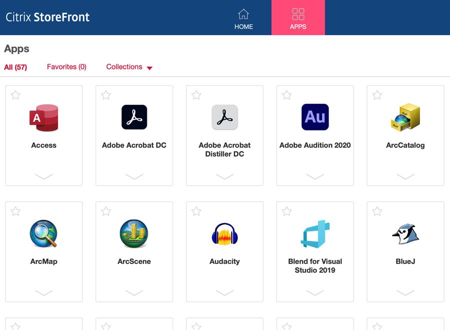 Citrixt StoreFront Apps Image