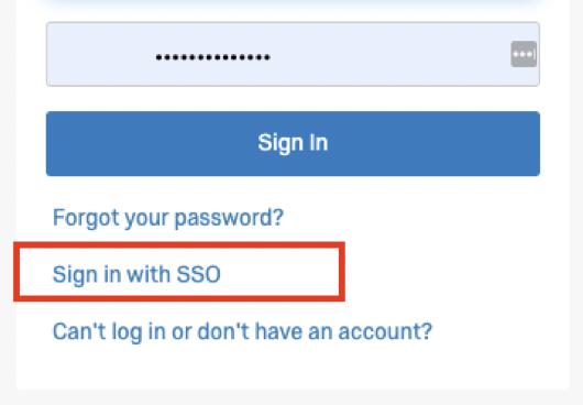 Image of SSO link